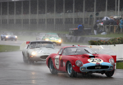 <h5>Ferrari GTO in the rain at Goodwoood Revival</h5>