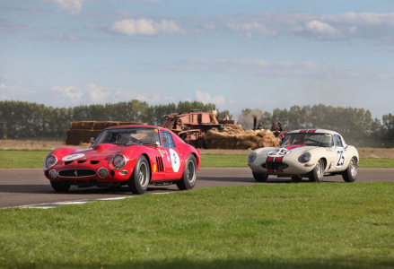 <h5>Ferrari leads Jaguar at Goodwood </h5>