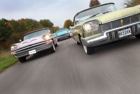 <h5>Trio of American cars</h5>
