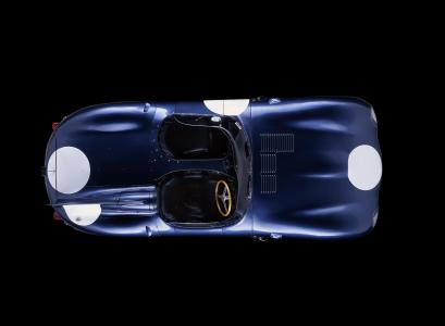 <h5>Le Mans winning Jaguar D type</h5>
