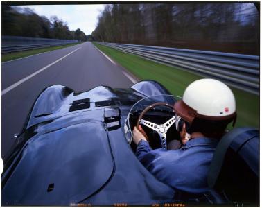 <h5>D Type prototype at Le Mans</h5>